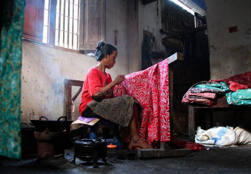 Mulheres do Batik imagem de stock