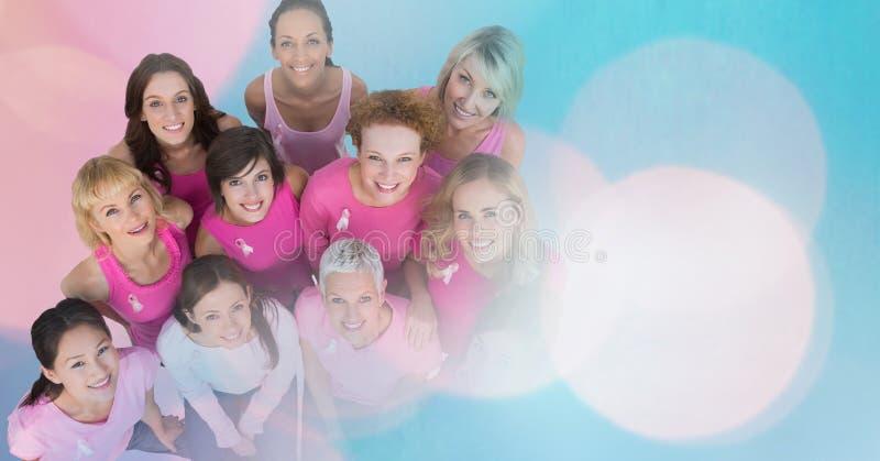 Mulheres do câncer da mama com transição foto de stock royalty free