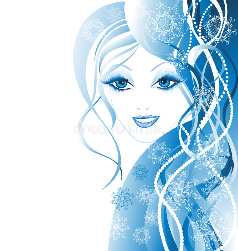 Mulheres do inverno da beleza ilustração royalty free