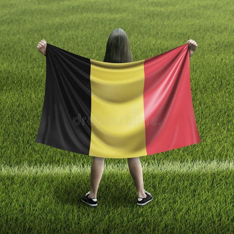 Mulheres e bandeira belga ilustração royalty free