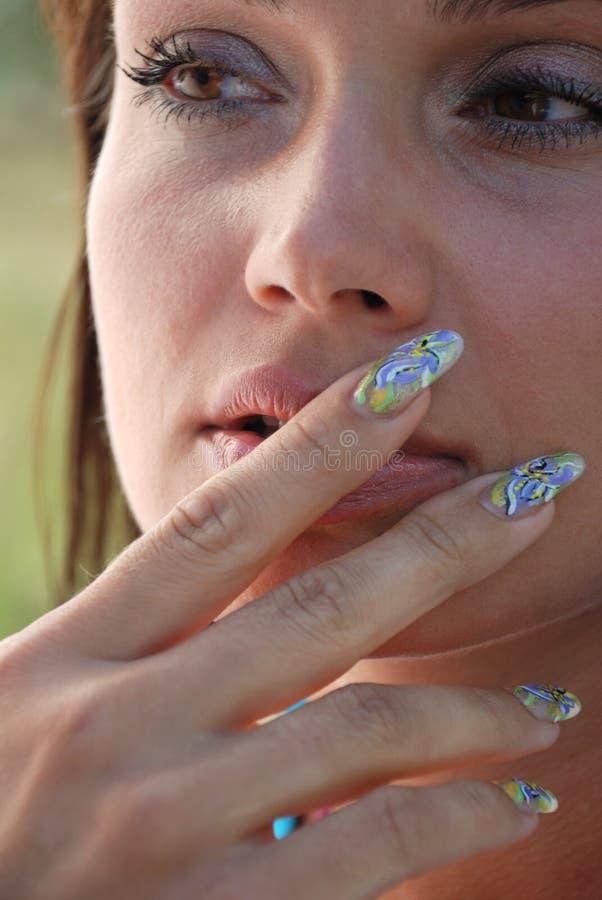 Mulheres e manicure fotos de stock royalty free