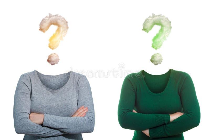 Mulheres em incógnito anônimas fotos de stock royalty free