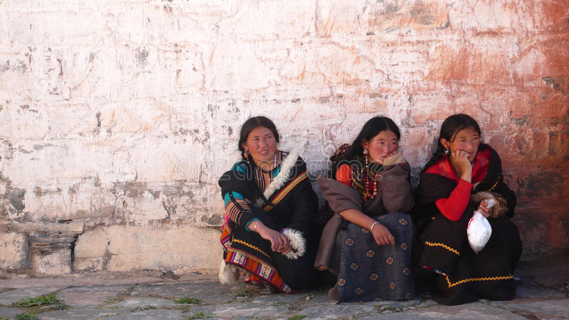 Mulheres em Tibet foto de stock royalty free