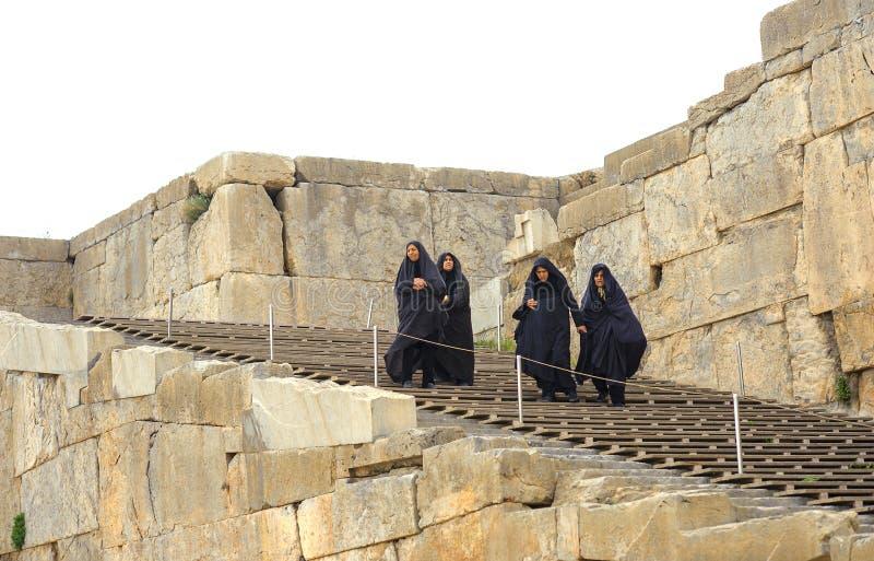 Mulheres em um hijab fotografia de stock royalty free