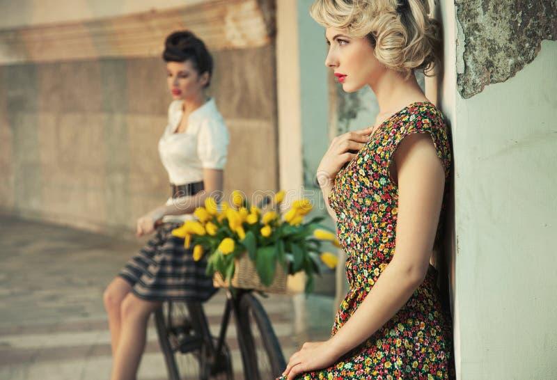 mulheres lindos fotografia de stock