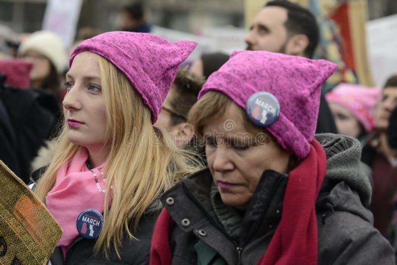 Mulheres março em Toronto imagens de stock royalty free