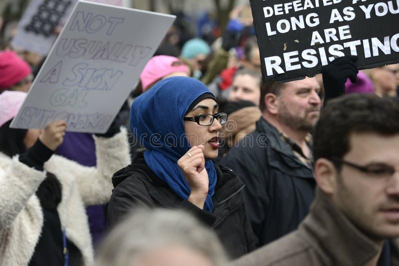 Mulheres março em Toronto foto de stock
