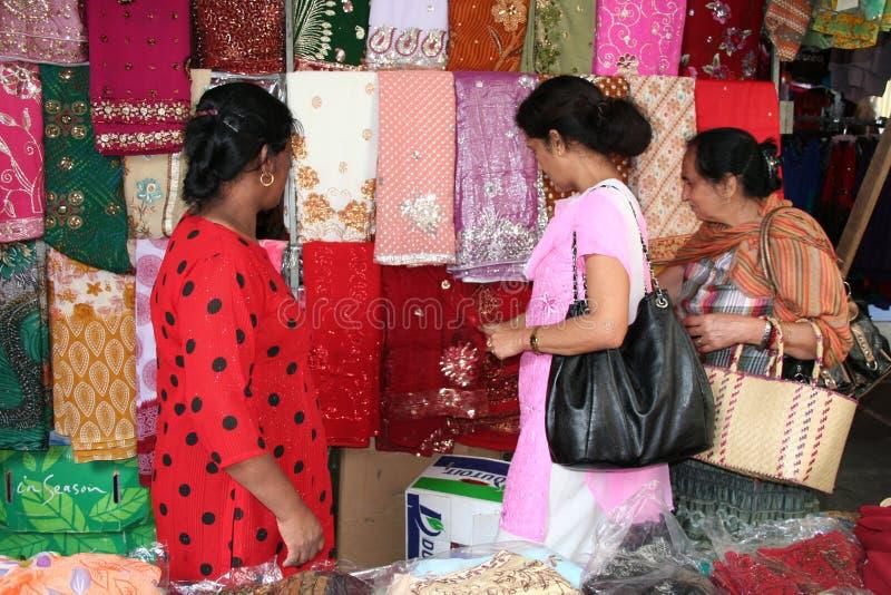 Mulheres maurícias - cena do mercado fotos de stock royalty free