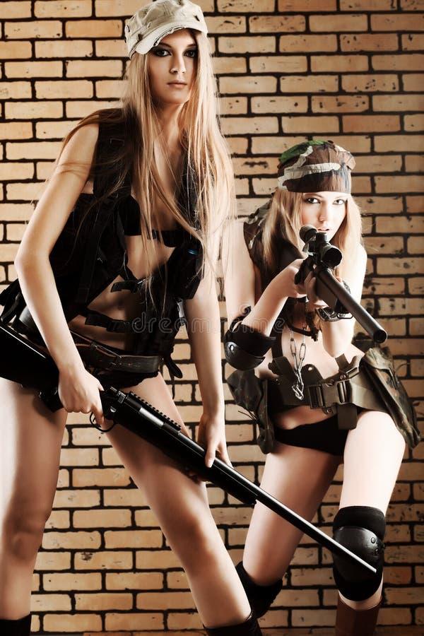 Mulheres militares fotografia de stock royalty free