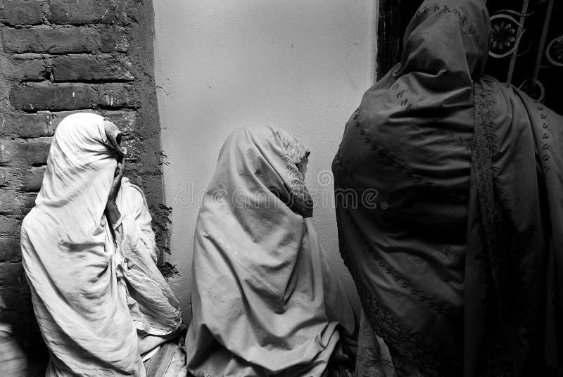 Mulheres muçulmanas em India foto de stock royalty free