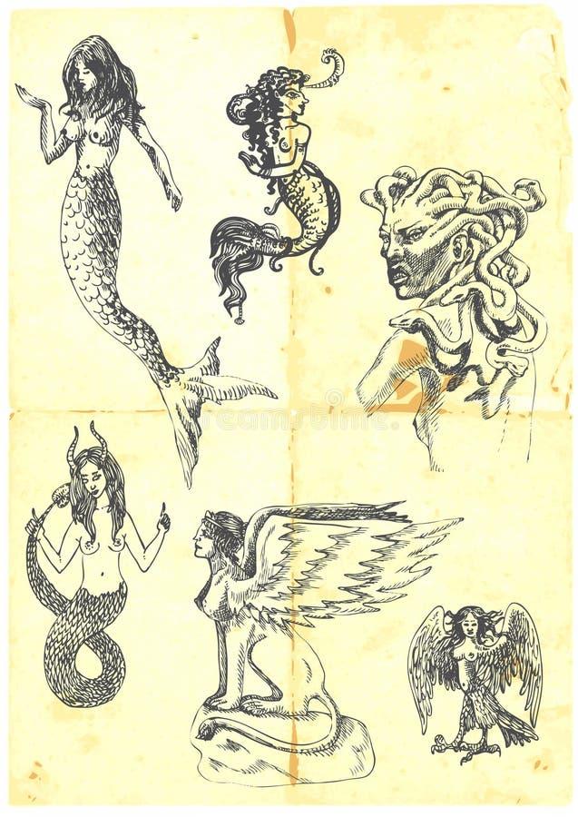 Mulheres Mystical ilustração do vetor