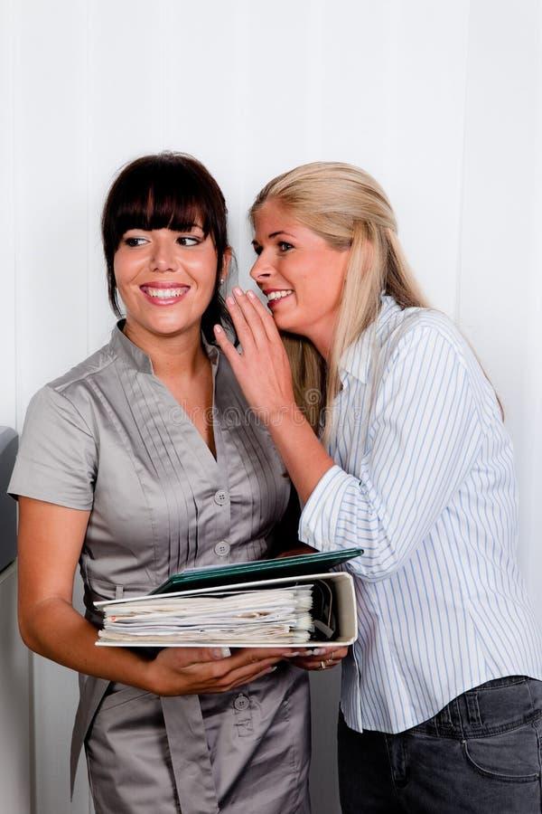 Mulheres na conversação fotografia de stock royalty free