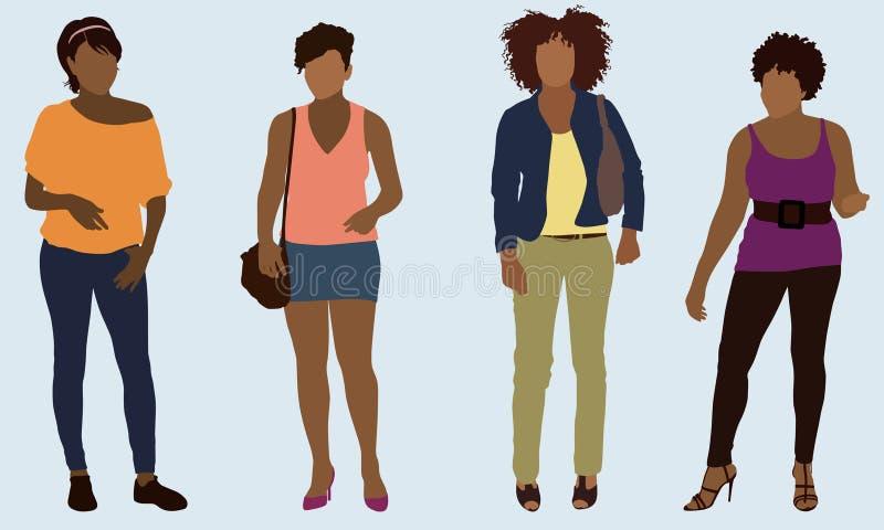 Mulheres negras ilustração royalty free