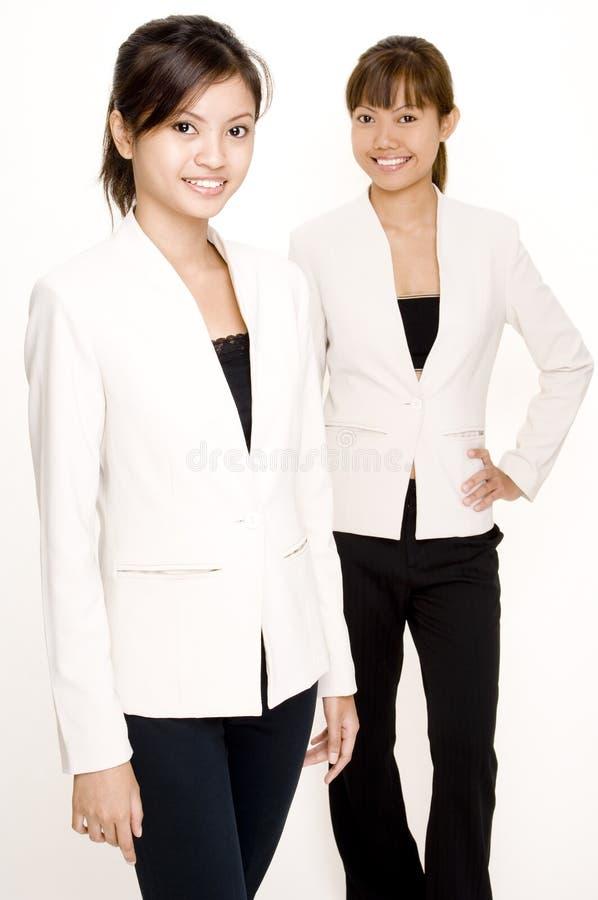 Mulheres no branco 4 fotos de stock royalty free