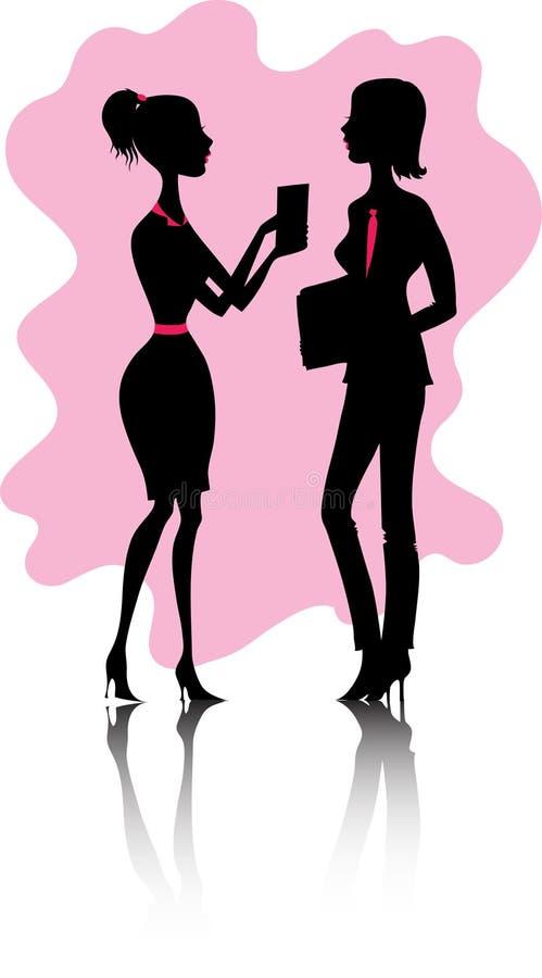 Mulheres no escritório ilustração do vetor