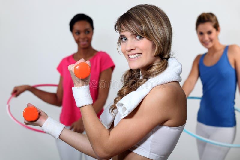 Mulheres no gym imagem de stock