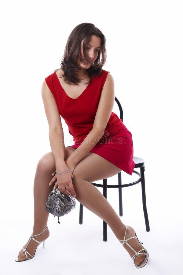 Mulheres novas bonitas isoladas fotos de stock royalty free