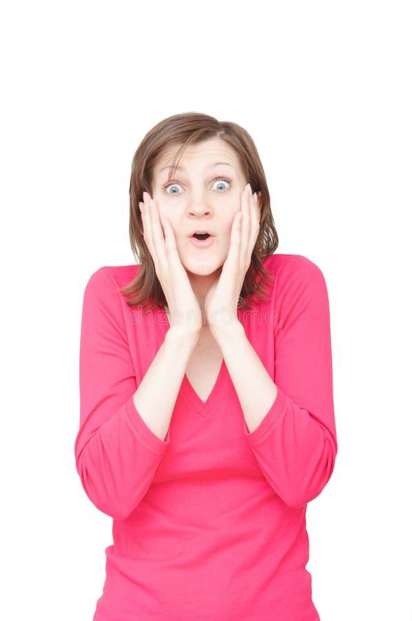 Mulheres novas espantadas imagens de stock royalty free