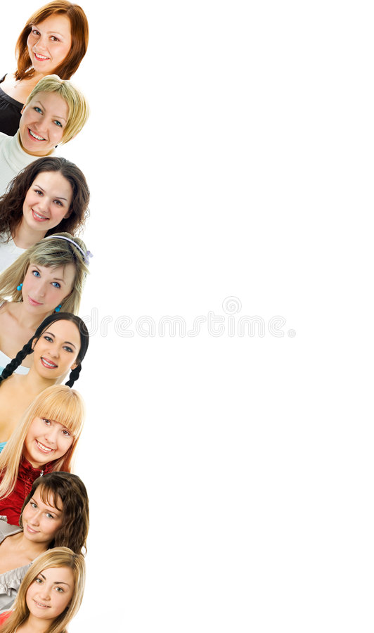 Mulheres novas isoladas foto de stock