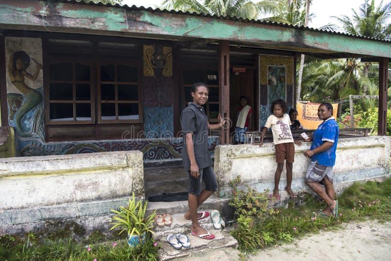 Mulheres, Papua ocidental fotografia de stock