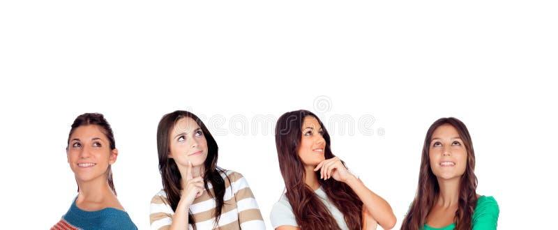 Mulheres pensativas imagem de stock royalty free