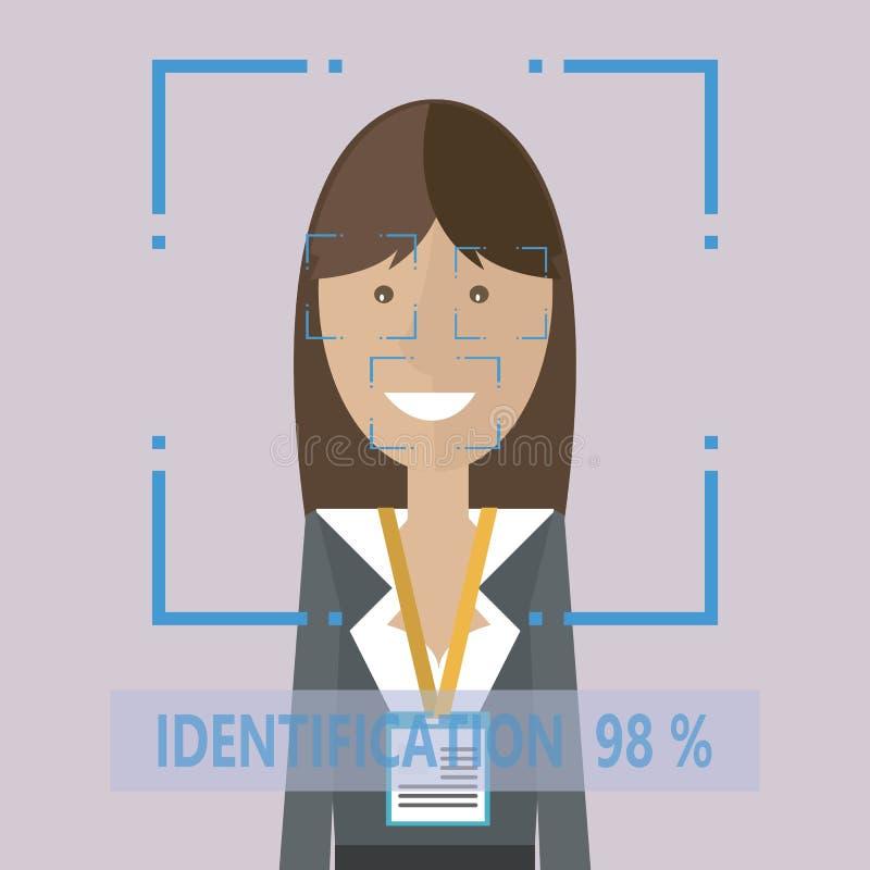 Mulheres pessoais da identificação ilustração stock