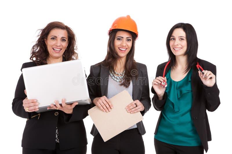 Mulheres profissionais na mão-de-obra fotografia de stock royalty free