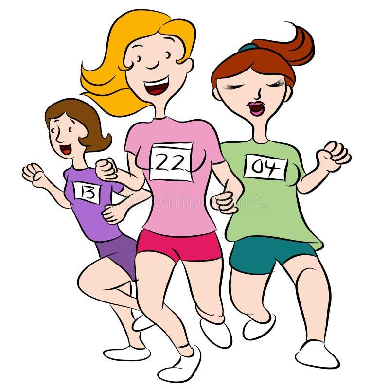 Mulheres que correm o evento ilustração royalty free