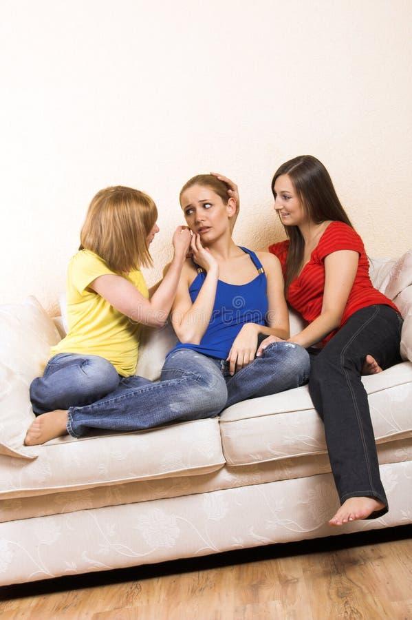 Mulheres que têm um dia das meninas imagens de stock royalty free