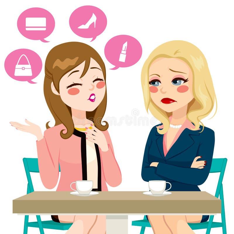 Mulheres que vangloriam-se da bisbilhotice ilustração royalty free
