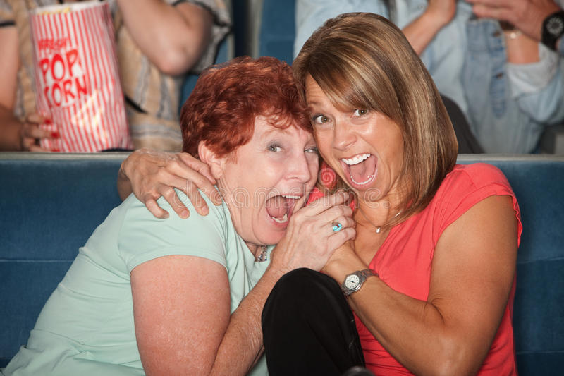 Mulheres Scared imagem de stock royalty free