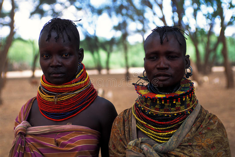 Mulheres Turkana (Kenya) foto de stock