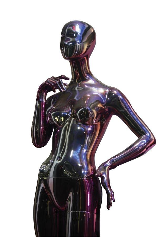 Mulheres virtuais isoladas, correcção de programa de grampeamento foto de stock royalty free