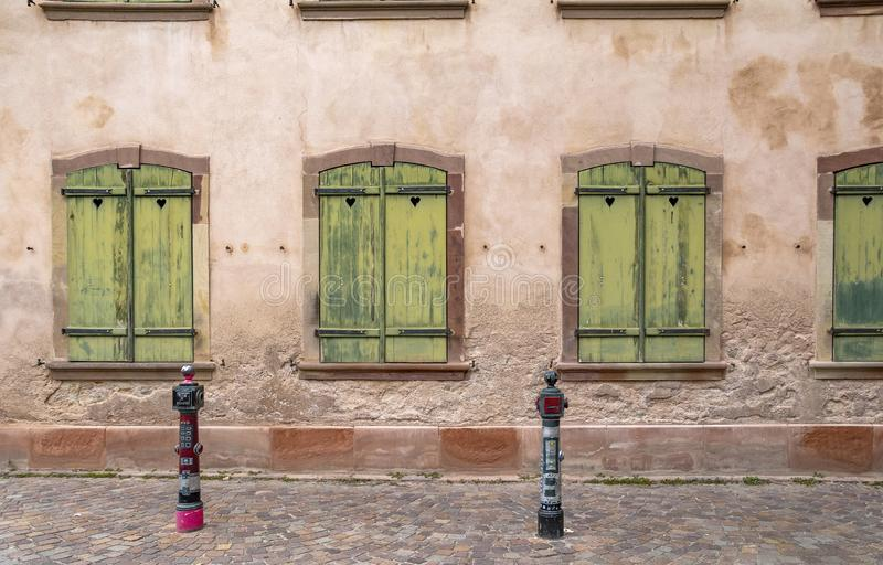 Mulhouse in France. Architectural detail of Mulhouse, a city in the Alsace region in France stock photography