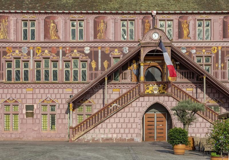 Mulhouse in France. Architectural detail of Mulhouse, a city in the Alsace region in France royalty free stock photo