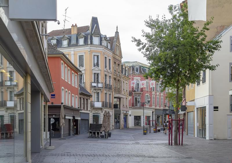 Mulhouse in France. City view of Mulhouse, a city in the Alsace region in France royalty free stock photo