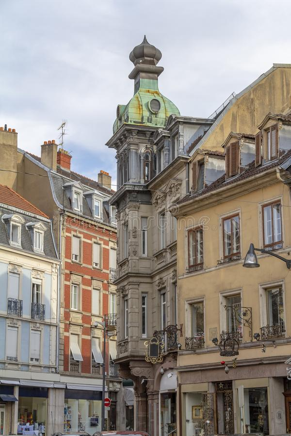 Mulhouse in France. Street view of Mulhouse, a city in the Alsace region in France royalty free stock photography
