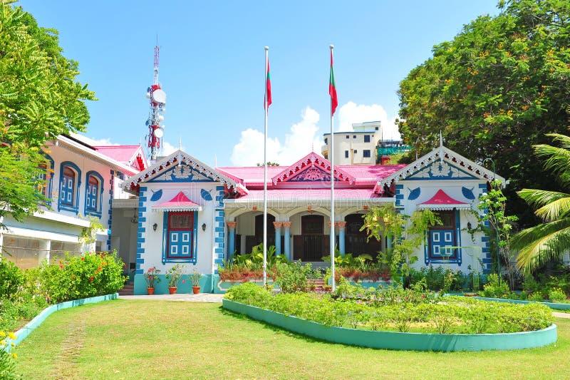 Muliaage, de woonplaats van de voorzitters van de Maldiven royalty-vrije stock afbeeldingen