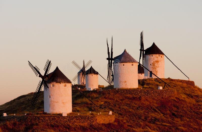 Mulini a vento, Consuegra immagine stock