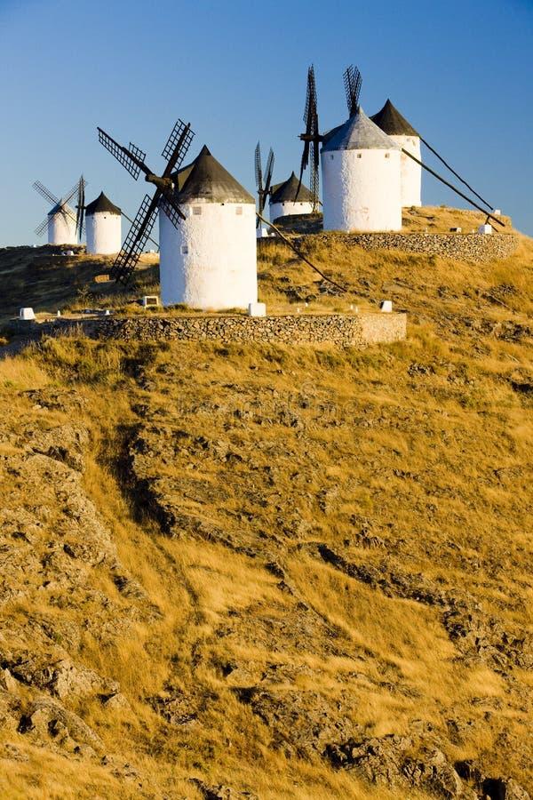 Mulini a vento a Consuegra immagine stock libera da diritti