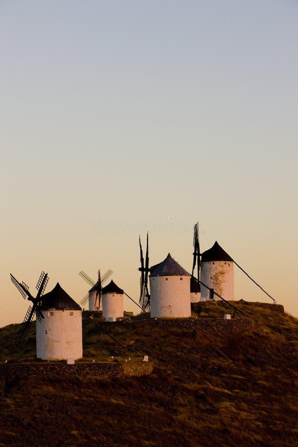 Mulini a vento, Consuegra, Castiglie e Mancie, Spagna immagine stock