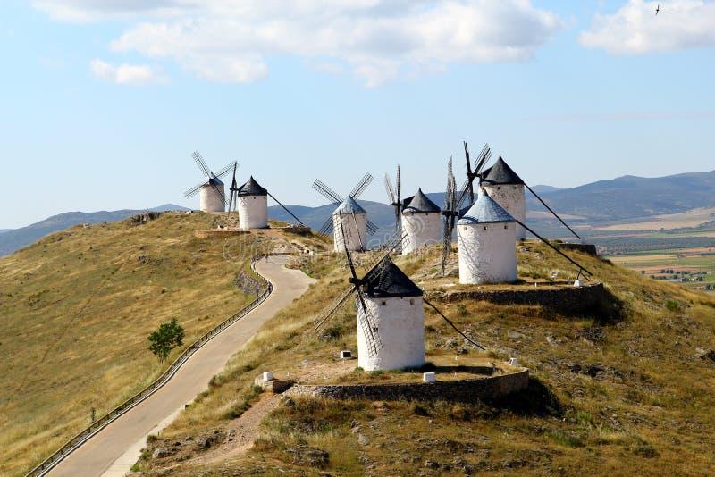 Mulini a vento, Consuegra spagna fotografie stock