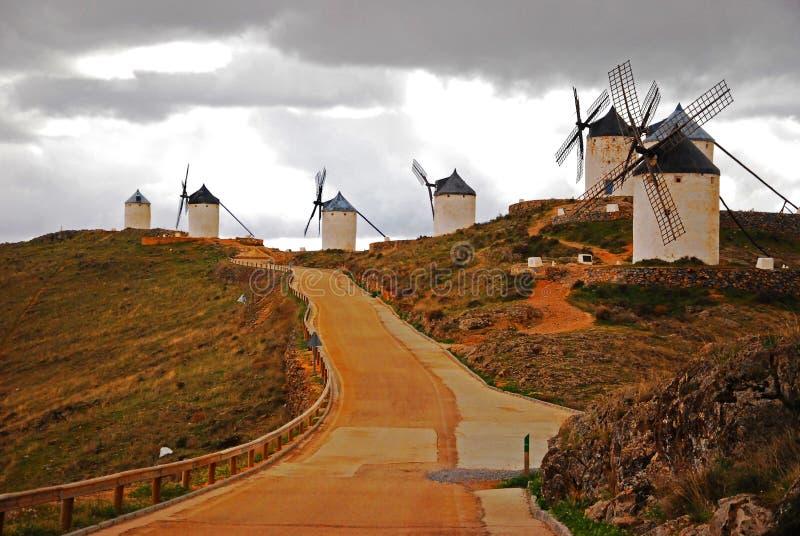 Mulini a vento di Consuegra fotografia stock libera da diritti
