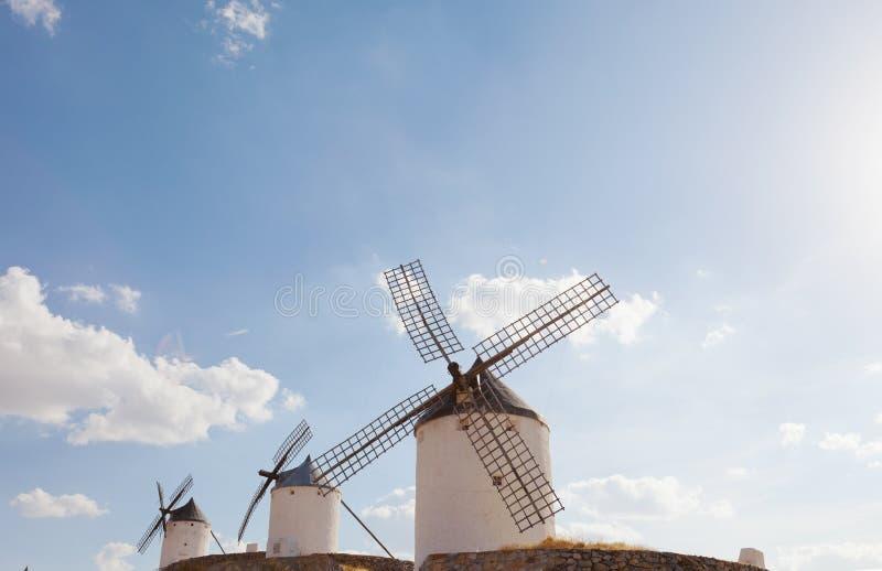 Mulini a vento di Consuegra immagine stock libera da diritti