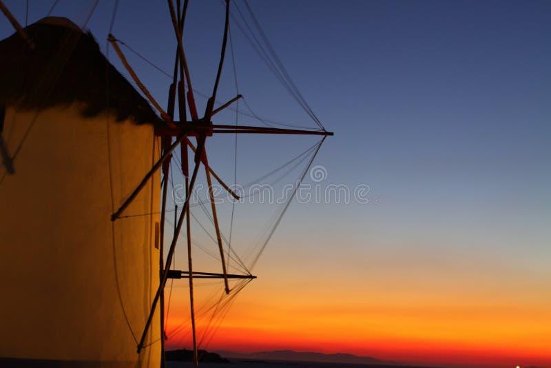 Mulini a vento di Mykonos immagini stock libere da diritti