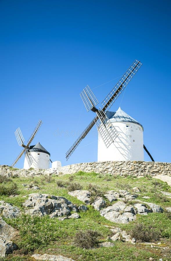 Mulini a vento di Quisciotte, Spagna fotografie stock