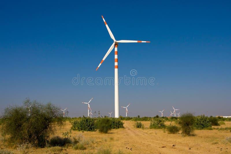 Mulini a vento, India fotografia stock