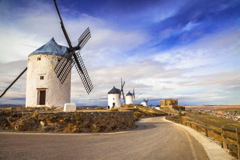 Mulini a vento spagnoli fotografie stock libere da diritti