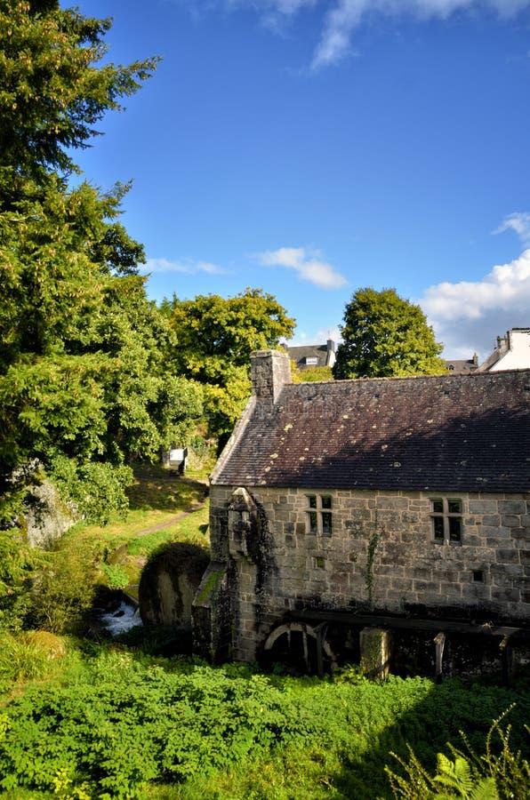 Mulino a acqua di Huelgoat, Bretagna immagine stock