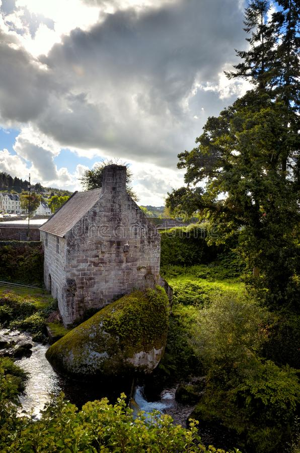 Mulino a acqua di Huelgoat, Bretagna fotografie stock libere da diritti